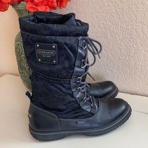 Coach Shaine lace up boots